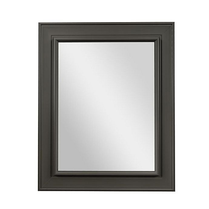 Alternate image 1 for PTM Images Lily 24-Inch x 30-Inch Wall Mirror in Pewter