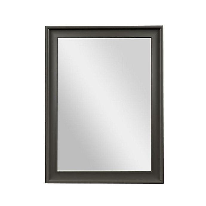 Alternate image 1 for PTM Images Vivid 40-Inch x 30-Inch Rectangular Wall Mirror in Pewter