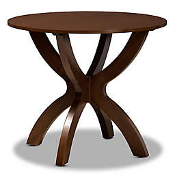 Baxton Studio Rina 35-Inch Round Dining Table