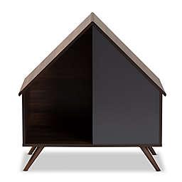 Baxton Studio Mia Litter Box House in Walnut/Grey