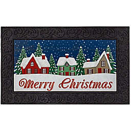Christmas Snow Village LED 18-Inch x 30-Inch Doormat