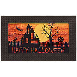 "Scary Sunset 18"" x 30"" Halloween LED Door Mat"