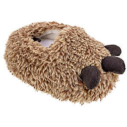 Sleepy Time Size 12-18M Monster Claw Slipper in Tan