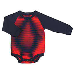 Kapital K™ Size 6-9M Raglan Striped Long Sleeve Bodysuit in Burgundy/Navy
