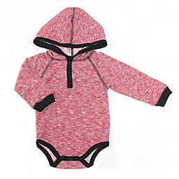 Kapital K™ Size 0-3M Cloud Hooded Long Sleeve Bodysuit in Red