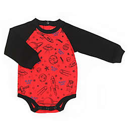Kapital K™ Size 6-9M Blast Off Long Sleeve Bodysuit in Cosmic Red