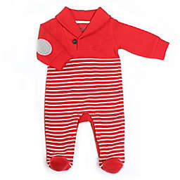 Kapital K™ Size 0-3M Candy Cane Stripe Long Sleeve Coverall in Red