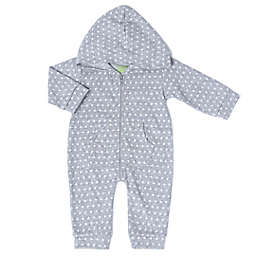 Kapital K™ Size 6-9M Star Jacquard Zip-Up Coverall in Grey