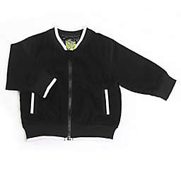 Kapital K Size 6-9M  Corduroy Long Sleeve Zip-Up Jacket in Black
