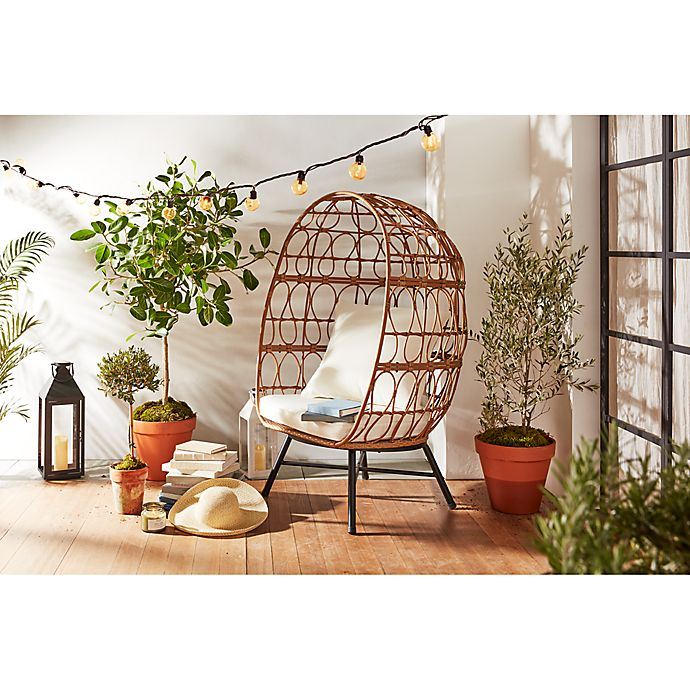 Alternate image 1 for Bee & Willow™ Home Stationary Egg Chair in Brown