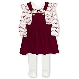 Nanette Baby® 3-Piece Corduroy Dress, Bodysuit, and Leggings Set
