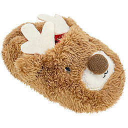 Sleepy Time Size 12-18M Reindeer Slipper in Brown