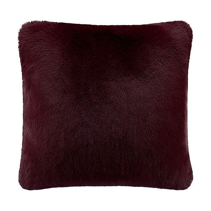 Alternate image 1 for UGG® Mammoth Square Throw Pillow in Cabernet