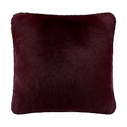 UGG® Mammoth Square Throw Pillow in Cabernet