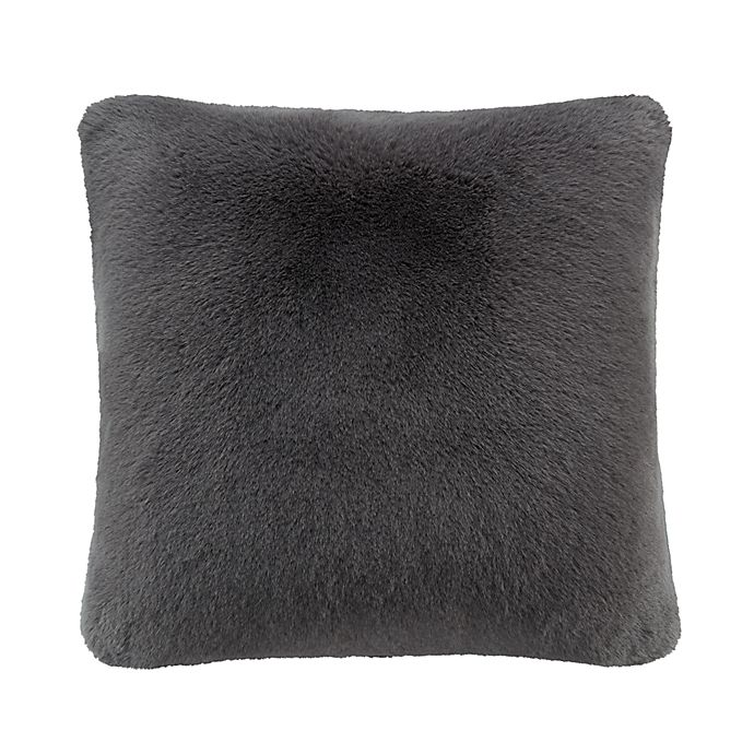 Alternate image 1 for UGG® Mammoth Square Throw Pillow in Charcoal