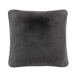 UGG® Mammoth Square Throw Pillow in Charcoal