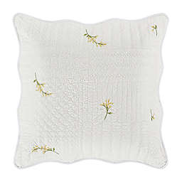 Piper & Wright Sandra Quilted European Pillow Sham in White
