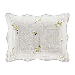 Piper & Wright Sandra Quilted Pillow Sham in White