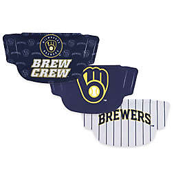 MLB Milwaukee Brewers 3-Pack Face Masks