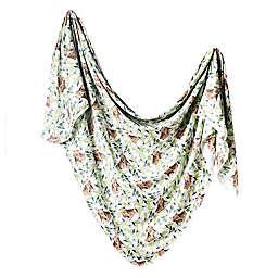 Copper Pearl Bear Knit Swaddle Blanket in Brown