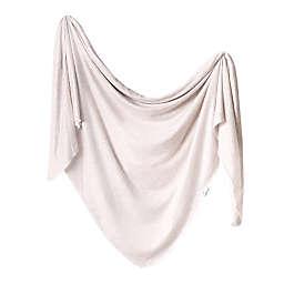 Copper Pearl Oat Knit Swaddle Blanket in Cream