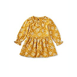 Tea Collection Peasant Dress in Mustard