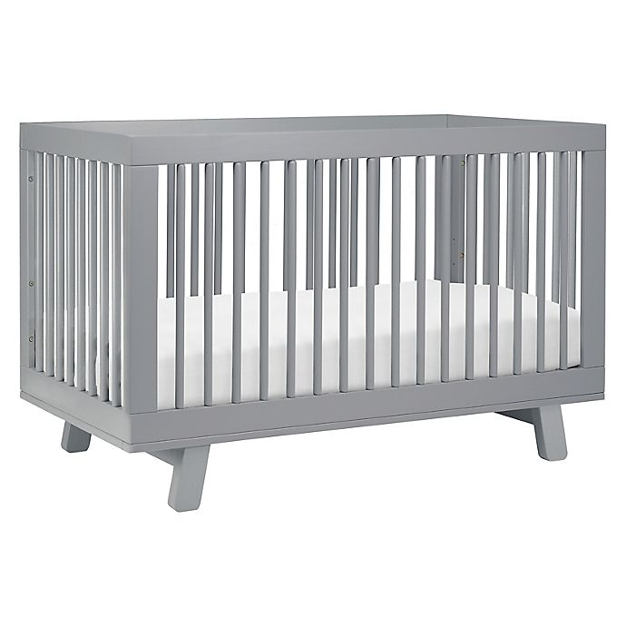 Alternate image 1 for Babyletto Hudson 3-in-1 Convertible Crib in Grey