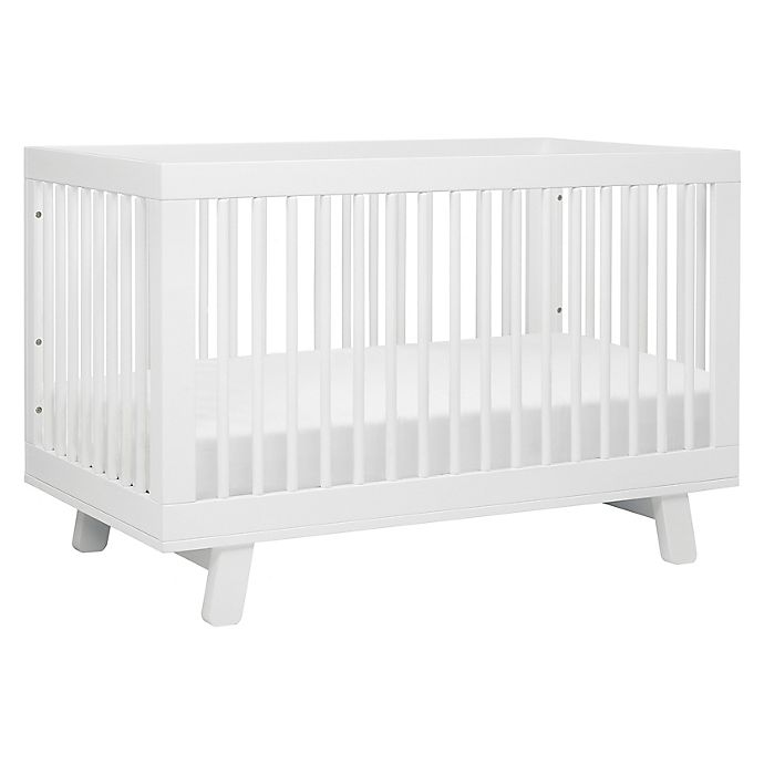 Alternate image 1 for Babyletto Hudson 3-in-1 Convertible Crib in White