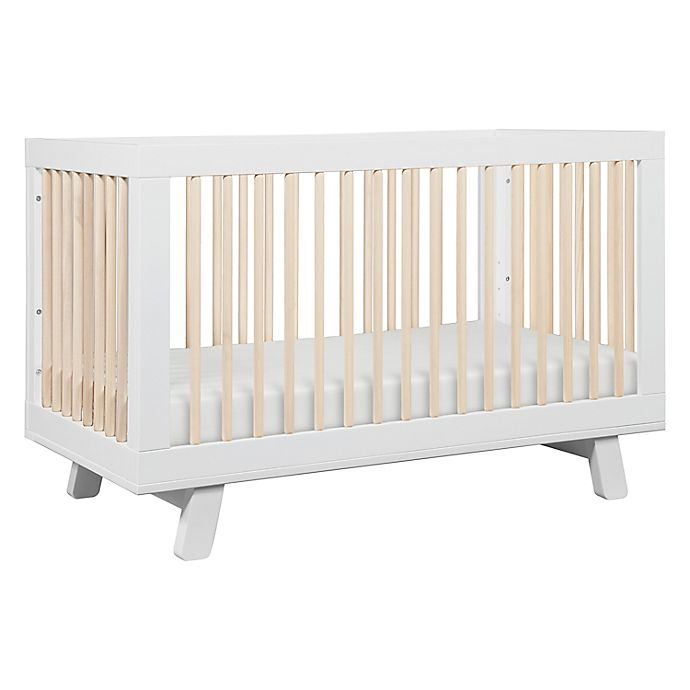 Alternate image 1 for Babyletto Hudson 3-in-1 Convertible Crib in White/Washed Natural