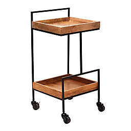 O&O by Olivia & Oliver™ 2-Tier Bar Cart in Black