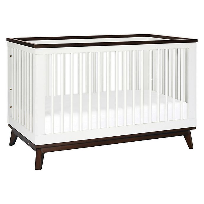 Alternate image 1 for Babyletto Scoot 3-in-1 Convertible Crib in White/Walnut