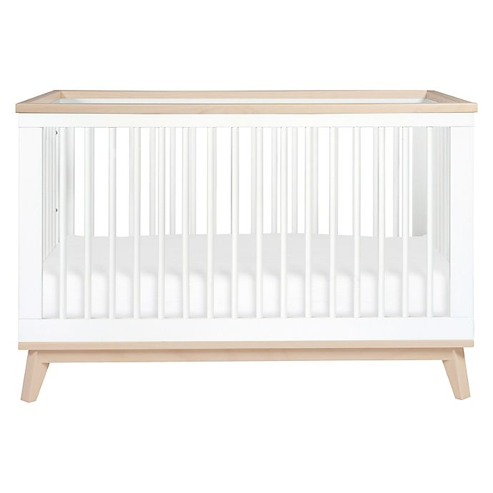 Alternate image 1 for Babyletto Scoot 3-in-1 Convertible Crib in White/Washed Natural