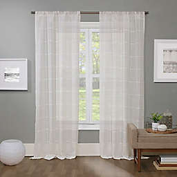 Barkley Rod Pocket Light Filtering Semi-Sheer Window Curtain Panel in White