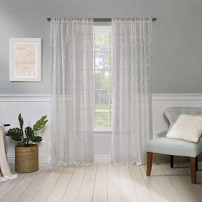 Stanton Rod Pocket Light Filtering, Double Rod Pocket Sheer Curtains
