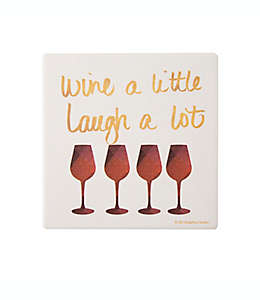 Portavasos Thirstystone® Wine and Laugh