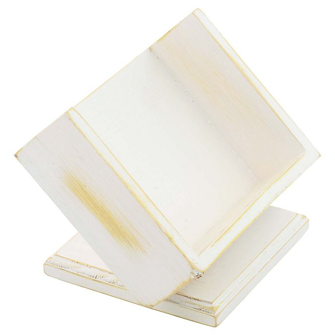 Alternate image 1 for Thirstystone® Wood Square Pedestal Coaster Caddy in Whitewash