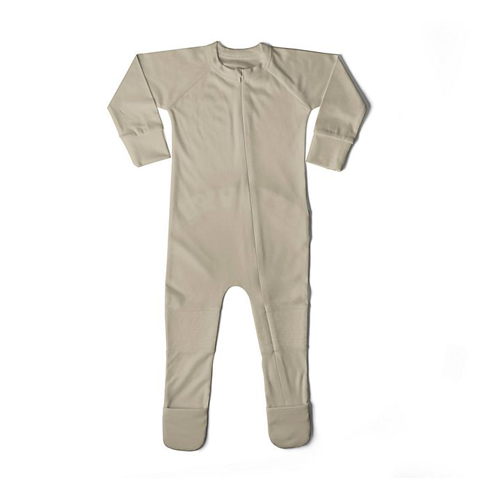 Alternate image 1 for goumi  Organic Cotton Size 12-18M Footie in Tan