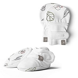 goumi Size 0-3M 2-Piece Mittens and Booties