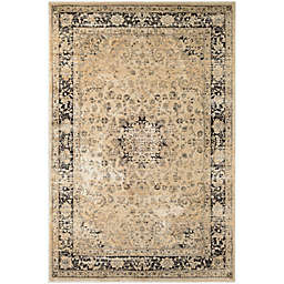 """Couristan® Zahara Persian Vase 2' x 3'7"""" Accent Rug in Oatmeal/Black"""