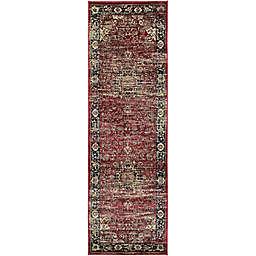 "Couristan® Zahara Persian Vase 2'7"" x 7'10"" Runner in Red/Black"
