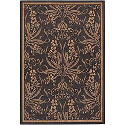 Couristan® Recife Garden Cottage Indoor/Outdoor Rug in Black/Cocoa