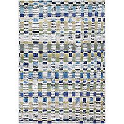 Couristan® Easton Surrey 6'6 x 9'6 Area Rug in Blue/Cream