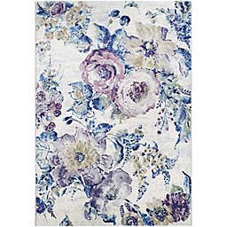 Couristan® Easton Floral Chic 6'6 x 9'6 Area Rug in Blue/Cream
