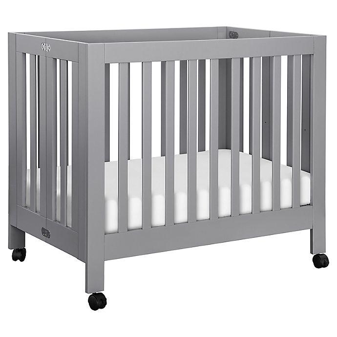 Alternate image 1 for Babyletto Origami Mini Crib in Grey