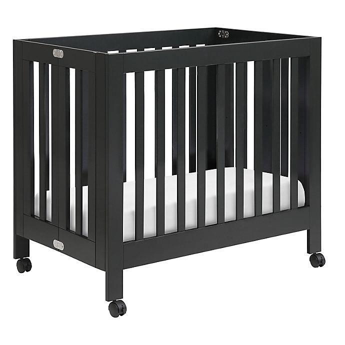 Alternate image 1 for Babyletto Origami Mini Crib in Black