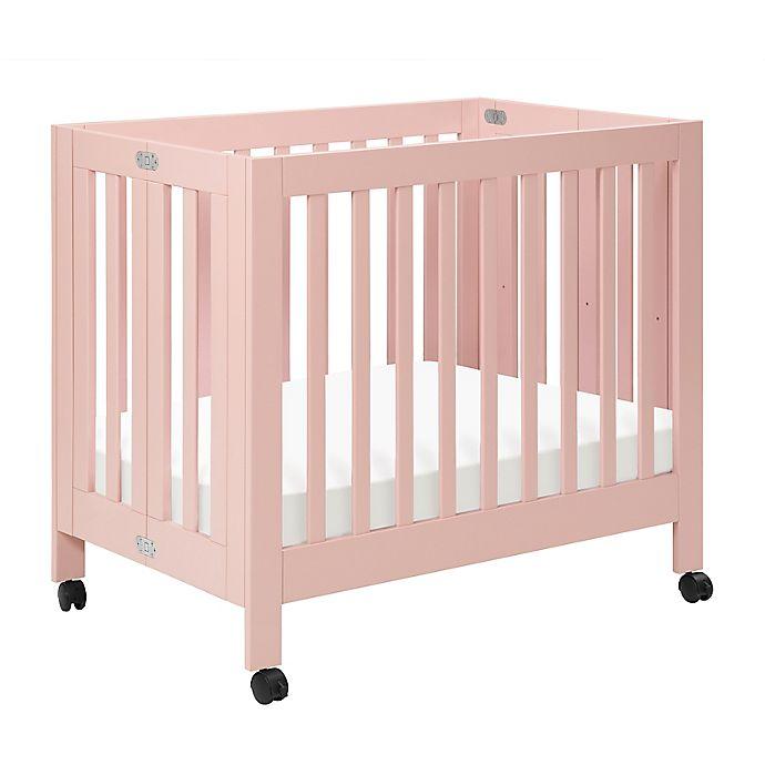 Alternate image 1 for Babyletto Origami Mini Crib in Petal Pink