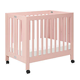 Babyletto Origami Mini Crib in Petal Pink