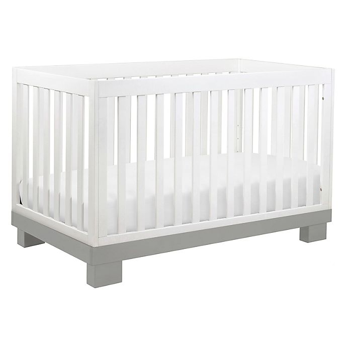 Alternate image 1 for Babyletto Modo 3-in-1 Convertible Crib in Grey and White