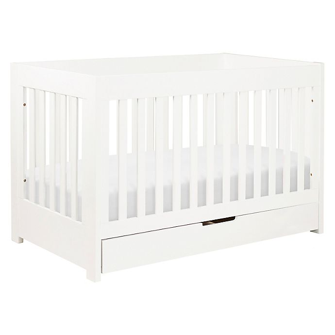 Alternate image 1 for Babyletto Mercer 3-in-1 Convertible Crib in White
