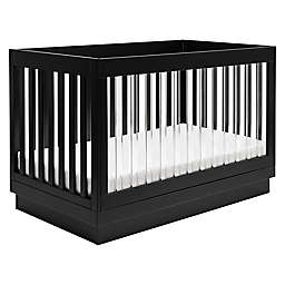 Babyletto Harlow 3-in-1 Convertible Crib with Toddler Bed Conversion Kit in Black and Acrylic